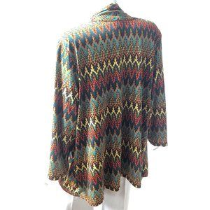Knit Flamestitch  Look Plus Sized Jacket